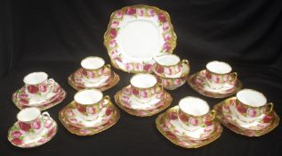 Early Royal Albert 'Old English Rose' teaset