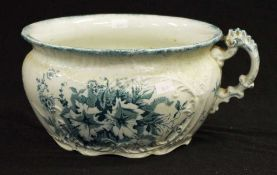 Early English blue & white chamber pot