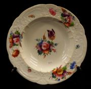 Early 19th Century Coalport porcelain soup bowl