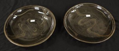 Two Michael Cardew studio pottery plates