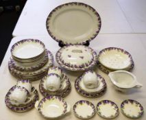 Vintage Royal Doulton 'Violets' part dinner set