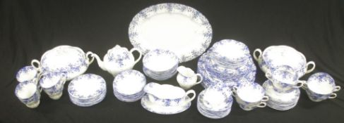 Extensive Royal Albert 'Dainty Blue' dinner set