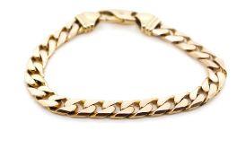9ct Rose gold 7mm Cuban link bracelet