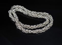 """Sterling silver """"Byzantine"""" chain link necklace"""