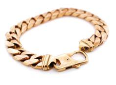 9ct Rose gold 11mm Cuban link bracelet
