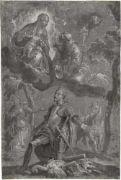 Veronese, Paolo: Die Madonna mit Kind mit den Hll Franziskus und Georg [^] Die Madonna mit Kind mit den hll. Franziskus und Georg. Feder in Braun, grau laviert, weiß gehöht auf grau grundiertem Papier. 36 x 23,5 cm. Um 1582/83.  Prof. Roger Rearick, der die Autorschaft Paolo Veroneses bestätigt, datiert die Zeichnung um 1582/83. Eine Kopie nach unserer Zeichnung, die Rearick Paolos Bruder Benedetto zuweist, befindet sich im Louvre (R. Cocke: Veronese's Drawings, London 1984, S. 126, Abb. 20 a...