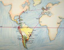 Bürkner, Alfred: Südamerikatournee 1954 - Tagebuch einer Konzertreise