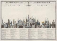 Vergleichende Höhentafel: der bemerkenswerthesten Monumente der Erde