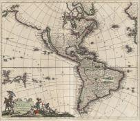 Danckerts, Justus: Recentissima novi orbis sive Americae