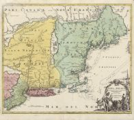 Homann, Johann Baptist: Konvolut von 22 kolorierten Kupferstichkarten