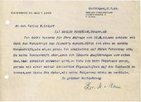 """Laue, Max von: 70 Briefe und Postkarten + Beilagen Laue, Max von, dt. Physiker, Nobelpreisträger, Direktor am Fitz-Haber-Institut der Max-Planck-Gesellschaft, Empfänger zahlreicher internationaler Ehrungen (1879-1960). Korrespondenz mit dem Berliner Verleger Wolfgang Keiper, bestehend aus 52 (1 handschr.) Briefen und 18 (2 handschr.) Postkarten m. U. """"M. v. Laue"""", 1 Brief in seinem Auftrag, 6 masch. Abschriften von Briefen Laues und mehr als 90 Durchschriften von Briefen Keipers an Ma..."""