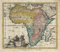 Konvolut von 10 Karten: des afrikanischen Kontinents und afrikanischer Länder.