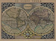 Hondius, Jodocus: Konvolut von 5 Kupferstichkarten