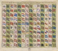 Seutter, Matthäus: Flaggen aller Seefahrenden Potenzen und Nationen