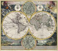Homann, Johann Baptist: Konvolut von 5 kolorierten Kupferstichkarten
