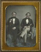 Daguerreotypes: Portrait of two elegantly dressed men