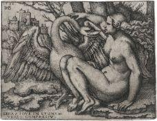 Beham, Hans Sebald: Leda mit dem Schwan