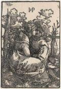 Beham, Hans Sebald: Das Liebespaar am Zaun