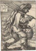 Beham, Hans Sebald: Bauer und Bäerin auf dem Weg zum Markt