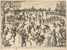 Borcht, Pieter van der: Schlittschuhlaufen