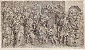 Davent, Leon: Kaiser Antoninus bringt ein Opfer dar