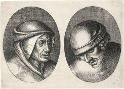 Bruegel d. Ä., Pieter - nach: 24 Köpfe von Bauern und Bäuerinnen