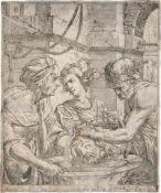 Brauwere, Paschatius de: Salome erhält das Haupt des Johannes