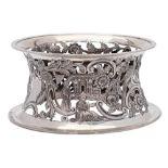 An Edward VII Irish silver dish ring, maker West & Son, Dublin,