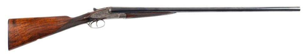 A Webley and Scott double barrel twelve bore sidelock ejector: number '69010' the plain 30 inch