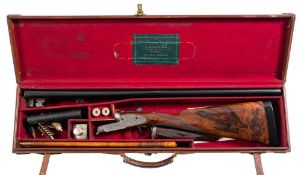 An E Gale and Son(Barnstaple) double barrel twelve bore sidelock ejector: No 81995,