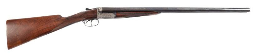 A double barrelled twelve bore boxlock ejector by Webley and Scott:,