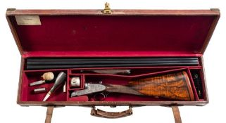 A Boss and Co double barrel twelve bore easy opening ejector: No 22894,