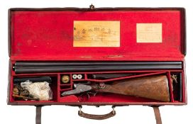 A Holland and Holland double barrel twelve bore sidelock ejector: No 12185,