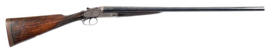 A Joseph Lang double barrel 12b sidelock ejector: 28 inch barrels No.