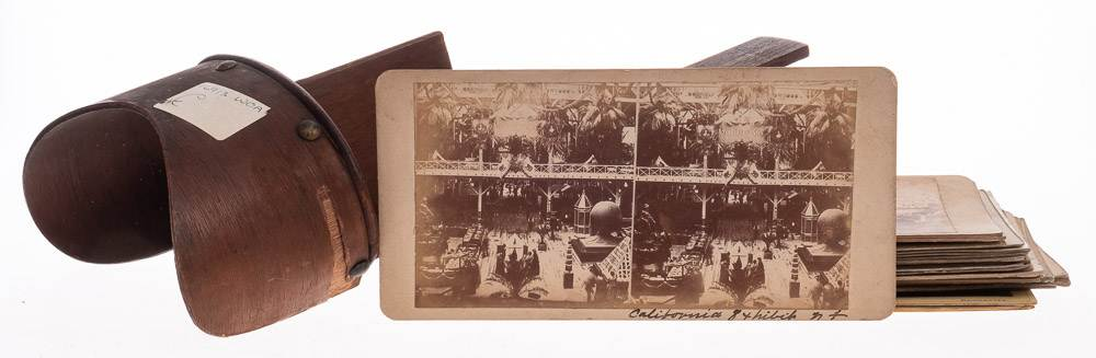 A group of late 19th/early 20th century stereoscope cards: including views of Paris by The London