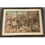 A framed and glazed military colour print.
