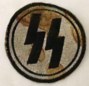 A German WWII style Ersatz Waffen SS PT vest patch.