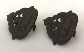 2 WWI style Canadian Expeditionary Force collar badges -204th Toronto Beavers shoulder titles.