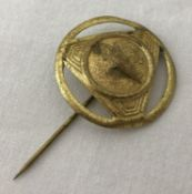 An Imperial German style zeppelin fund raising stick pin badge.