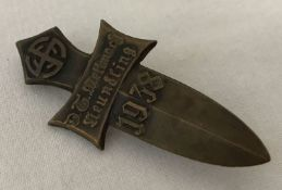A WWII style Austrian Rally pin back badge with 1938 date.