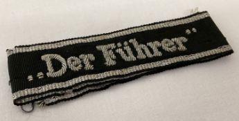 """A WWII style SS """"Der Furhrer"""" cuff title."""