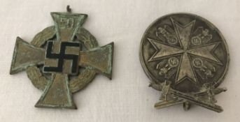 2 WWII style German medals.
