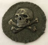 WWI style German Flammenwerfer (flame thrower) Officers sleeve patch.