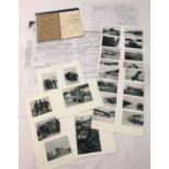 WWI RFC/RAF interest copied Pilot's Logbook, copied photos and other copied paperwork.