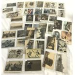 A collection of 50 original WWI postcards.
