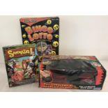 3 boxed family games. Chad valley Bingo lotto & Snorta by Mattel.