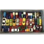 A tray of assorted vintage diecast vehicles to include Matchbox, Corgi and Lledo.