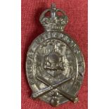 A WWI Style New Zealand Railway Battalion Officers cap badge.