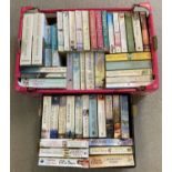 2 boxes of modern fiction novels to include hard back issues, some in as new condition.