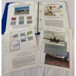 A folder containing stamps, first day cover and ephemera relating to the Douglas DC3 aircraft.